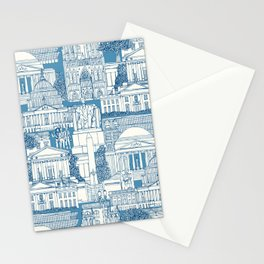 Washington DC toile blue Stationery Cards