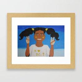 Peace, Love, and Jesus Framed Art Print