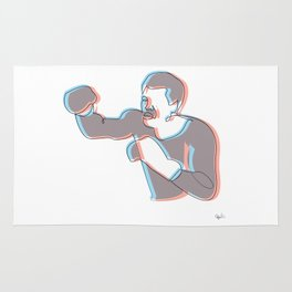 Boxing Ali (coulour) Rug