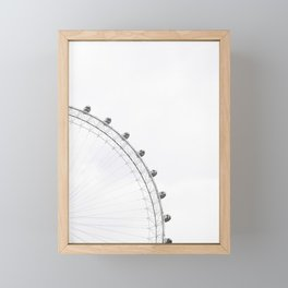 London Eye Monochrome Framed Mini Art Print