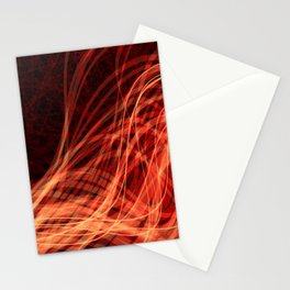 Linear Flow3 Orange Red Stationery Cards