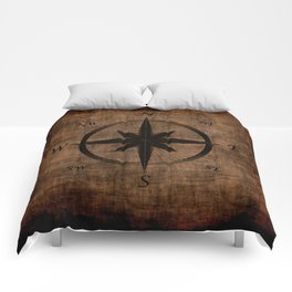Nostalgic Old Compass Rose Comforters