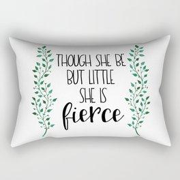 Though She Be But Little (Green) Rectangular Pillow