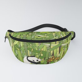 Traveling Pandas in Bamboo Forest Fanny Pack