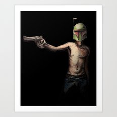 Boba Fett's Smith and Wesson Art Print