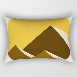 Abstraction_Mountains_YELLOW_001 Rectangular Pillow