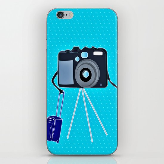 Camera on a photographic trip iPhone & iPod Skin
