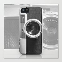 contact Canvas Prints featuring Camera by Nicklas Gustafsson