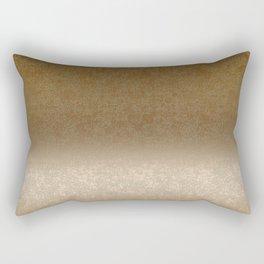 Golden gradient ornament background Rectangular Pillow