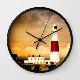 Portland Bill Lighthouse (Painting) Wall Clock
