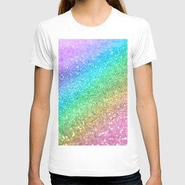 Rainbow Princess Glitter #1 #shiny #decor #art #society6 T-shirt