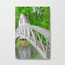 Bar Harbor Maine White Bridge Print Metal Print