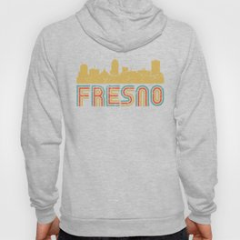 Retro Fresno California Skyline Hoody