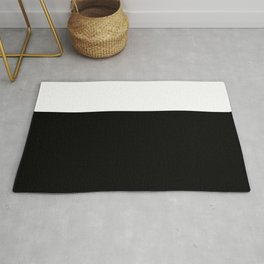 Color Block-Black and White Rug
