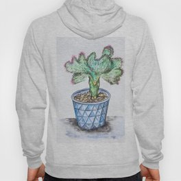 Euphorbia Lactea Cactus Hoody