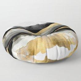 Golden Spring Moon Floor Pillow