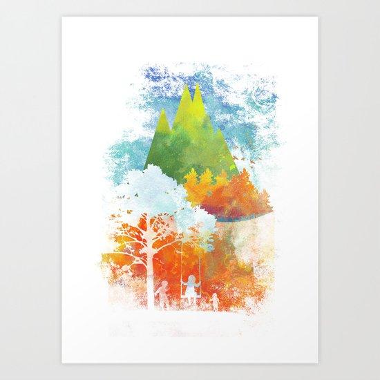 color autumn Art Print