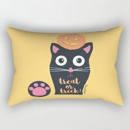 Halloween Cat Rectangular Pillow