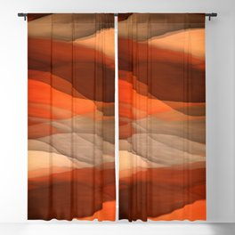 """""""Sea of sand and caramel waves"""" Blackout Curtain"""