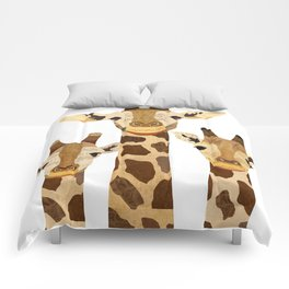 Giraffe Collage Comforters