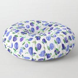 Sweet plums || watercolor Floor Pillow