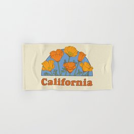 California Poppies Hand & Bath Towel