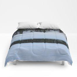 Snow. Stripes. Fogged Mirror. Comforters