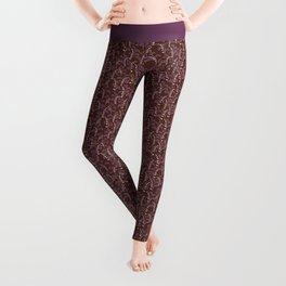 Pink Lily of the Valley Leggings