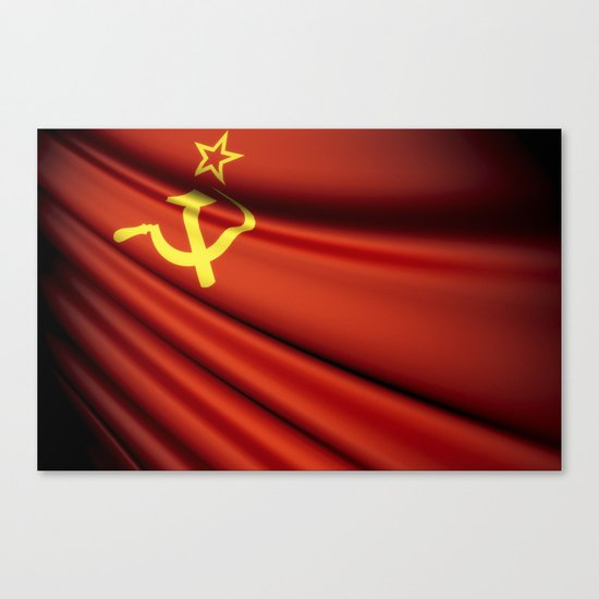 Flag of Soviet Union (1922-1991) Canvas Print