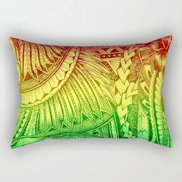 Reggae Color Polynesian Designs Tribals Rectangular Pillow