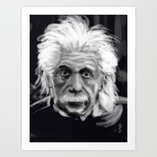 Speed Portraits: Einstein Art Print