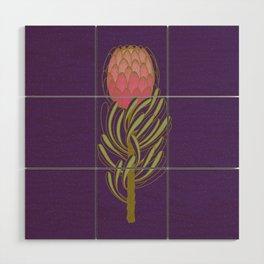 Protea Flower Wood Wall Art