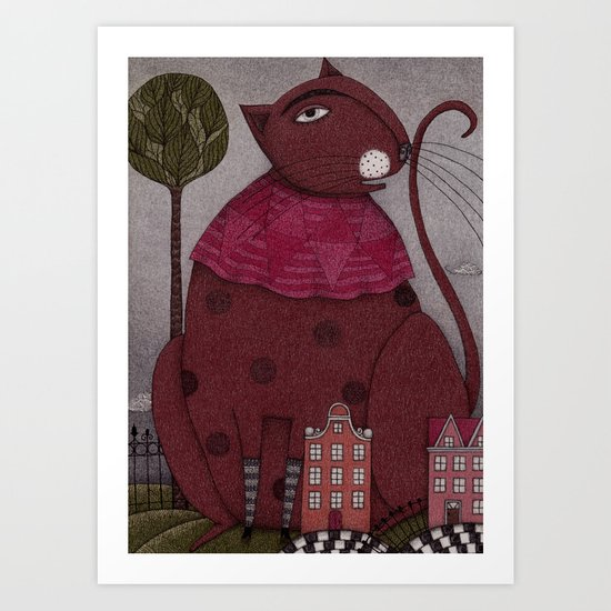 It's a Cat! Art Print