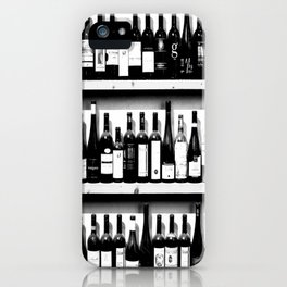 Wine Bottles in Black And White #society6 #decor iPhone Case
