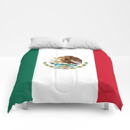 The Mexican national flag - Authentic high quality file Comforters