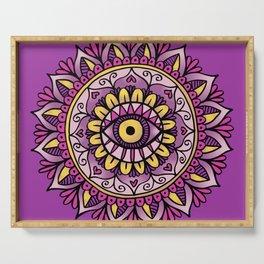 Third Eye Mandala Purple Gold Serving Tray