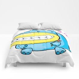 Cartoon character doodle in love Comforters