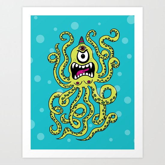 Monster Week, Day 2 Art Print