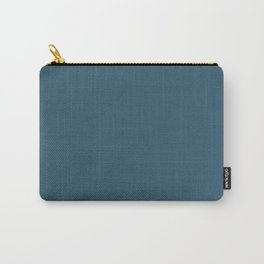 Sherwin Williams Trending Colors of 2019 Endless Sea Blue SW 9150 Solid Color Carry-All Pouch