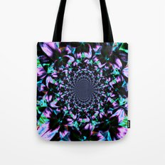 Black and Purple Kaleidoscope Tote Bag