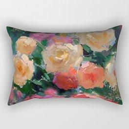 Yellow & Pink Roses Rectangular Pillow