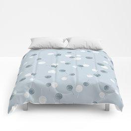 Smal blue leaves Comforters