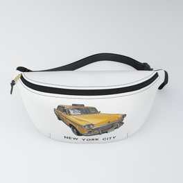 New York City Classic Yellow NYC Checker Taxi Cab Fanny Pack