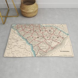 Vintage Map of South Carolina (1893) Rug
