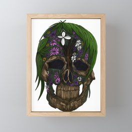 Plant Skull Framed Mini Art Print