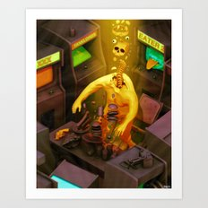 Abduction of the Arcade Fiend Art Print