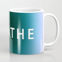 Breathe Typography in Mindfulness Window Coffee Mug