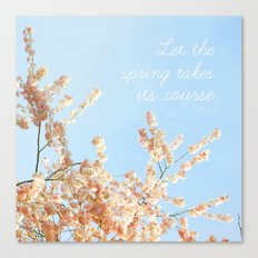 Let the spring takes its course Canvas Print
