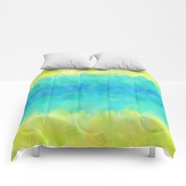 Sunflower and Ice Abstract Comforters