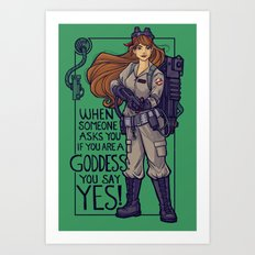 Ghostbuster Goddess Art Print